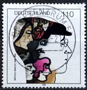 DEUTSCHLAND: MiNr.1972 Bertolt Brecht 110pf 1998