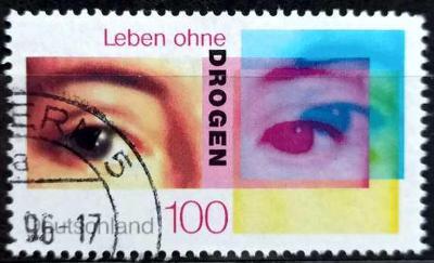 DEUTSCHLAND: MiNr.1882 Life Without Drugs 100pf 1996