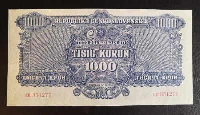 1000 korun 1944 bez kolku v nadhernem stavu,velice vzacna !!
