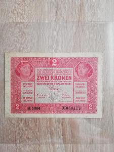 2 kronen 1917 vzácnější série A, stav 3/3