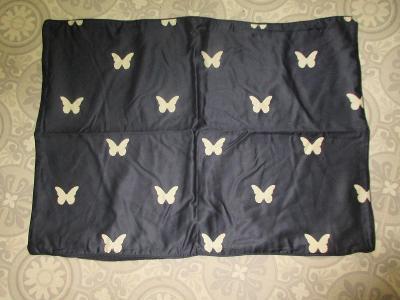 ložní povlečení modré s motyli   DORMEO