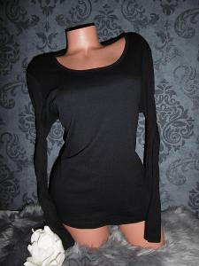 příjemné dámské tričko triko černé TRI1123 - tričková klasika S+