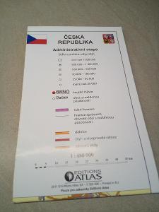 Mapa Česká republika administrativní mapa od Edition Atlas, rok 2011