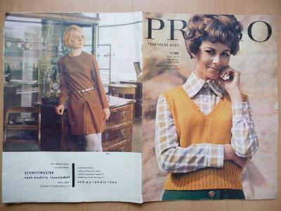 Německý časopis - PRAMO - PRAKTISCHE MODE - číslo 11. z roku 1968
