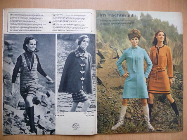 Německý časopis - PRAMO - PRAKTISCHE MODE - číslo 11. z roku 1968 - Časopisy
