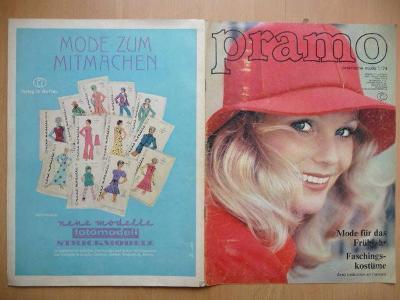 Německý časopis - PRAMO - PRAKTISCHE MODE - číslo 1. z roku 1974