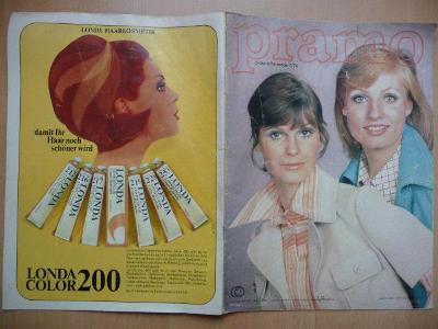 Německý časopis - PRAMO - PRAKTISCHE MODE - číslo 7. z roku 1974
