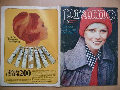 Německý časopis - PRAMO - PRAKTISCHE MODE - číslo 8. z roku 1974