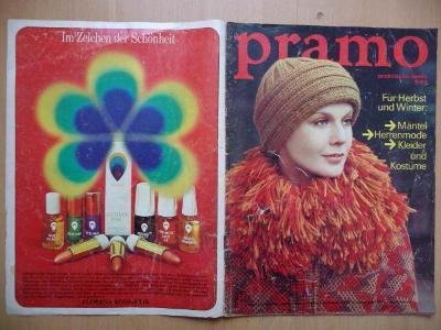 Německý časopis - PRAMO - PRAKTISCHE MODE - číslo 9. z roku 1974
