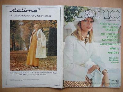 Německý časopis - PRAMO - PRAKTISCHE MODE - číslo 1. z roku 1975