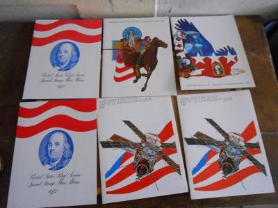 Výběr poštovních známek USA 1972 - 1975