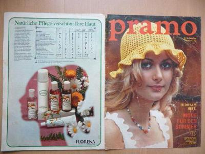 Německý časopis - PRAMO - PRAKTISCHE MODE - číslo 4. z roku 1975