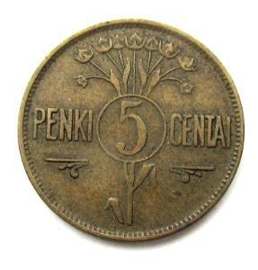 Litva 5 centu 1925