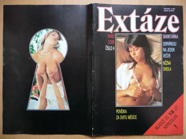 Erotický časopis - EXTÁZE - číslo 4 z roku 1991 - Erotická literatura