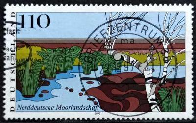 DEUTSCHLAND: MiNr.1945 North German Moorland 110pf 1997
