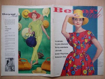 Německý časopis - Beyer Mode - číslo 7 z července roku 1960