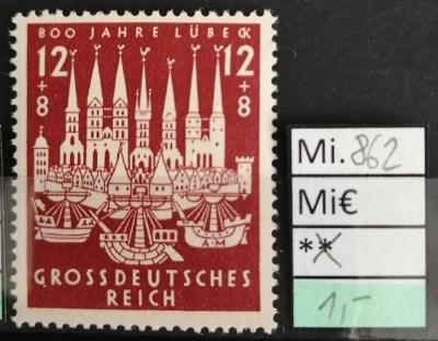 Deutsches Reich, DR Mi 862*