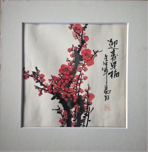 Jang Ž (Yang Ri) - Vítání jara v rozpuku / akvarel