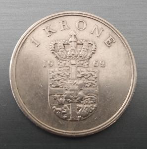 1 Krone 1962 Dánsko
