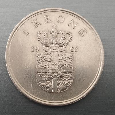 1 Krone 1963 Dánsko