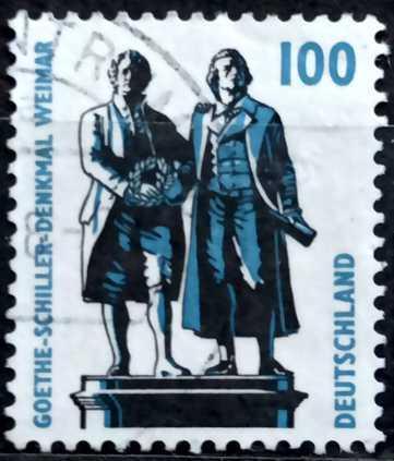 DEUTSCHLAND: MiNr.1934 Goethe-Schiller Monument, Weimar 100pf 1997