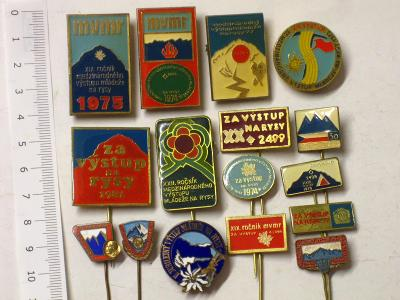 Odznaky turistické - za výstup na Rysy - aj smalt - 16 ks