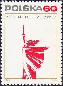 Polsko 1969 Známky Mi 1949 ** Druhá světová válka Kombatant památník