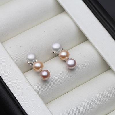 Ag925 stříbrné náušnice  říční perla