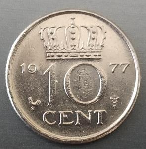 10 cent 1977 Holandsko