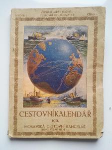 RARITA / Cestovní Kalendář  / Ročník 1 číslo 1   BRNO  roku 1911