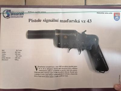 Obrázky zbraní - signální pistole
