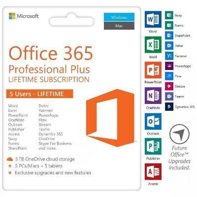 Microsoft Office 365 ProPlus pro 5 zařízení - dodání do 30 minut