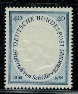 Německo BRD SRN 1955 Známky Mi 210 ** literatura Schiller básník