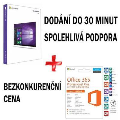 Windows 10 Pro + Office 365 Pro Plus - dodání do 30 minut