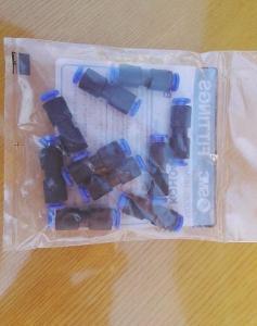 Plastové vzduchové spojky SMC 4mm 10 ks balení