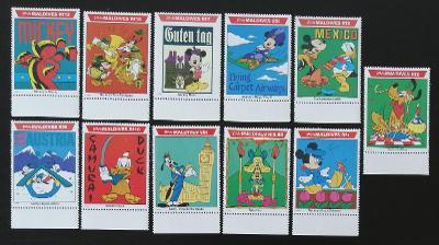 Maledivy 1992 Mi.1659-9 17€ DISNEY, Mickey na cestě kolem světa