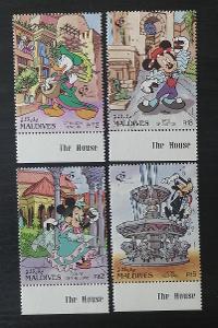 Maledivy 1992 Mi.1703-6 9€ DISNEY, Mickey ve Španělsku