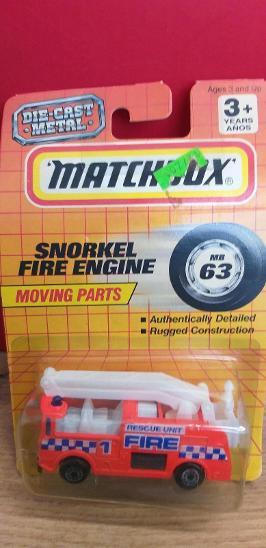 MATCHBOX  ´´SNORKEL FIRE ENGINE´´ 1994 #63 - Modelářství