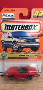 MATCHBOX ´´ DODGE VIPER RT/10 ´´ 2000 #43 - bez loga na skle