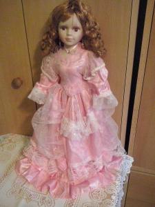 Hezká porcelánová panenka 50cm SLEVA
