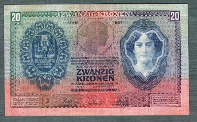 20 korun 1907 serie 1937 VZÁCNÁ