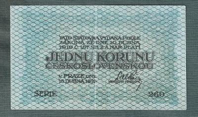 1 koruna 1919 serie 260 stav 1