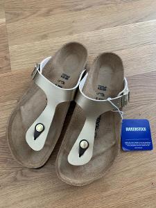 Pantofle Birkenstock Gizeh - zlaté