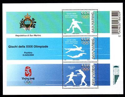 San Marino 2008, aršík LOH Peking 2008, svěží