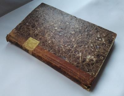 vzácná  kniha z roku 1820/ ex libris Fournier und Haberler / Znojmo