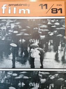 Časopis Amatérský film 1981 č. 7 a 11