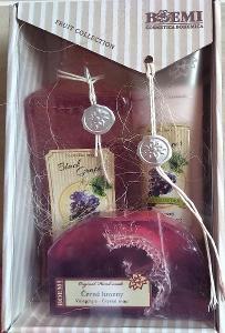 Dárková kazeta Černé hrozny (sprchový gel, tělové mléko a mýdlo)