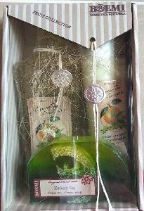 Dárková kazeta Mandarinka a zelený čaj, sprch. gel, tělové mléko,mýdlo