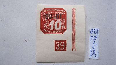 BuM - čistá známka  GD - OT 1 s deskovým číslem