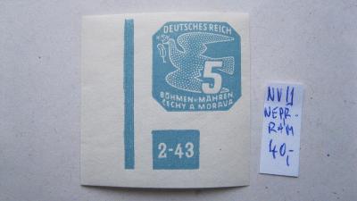 BuM - čistá novinová známka  katalogové číslo NV 11 s DZ  2 - 43